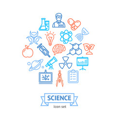 Science research thin line icon concept vector