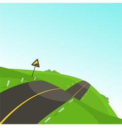 Steep road vector