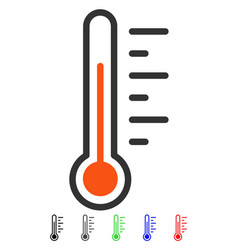 Temperature level flat icon vector