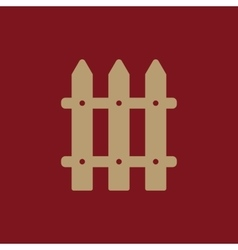 The fence icon paling symbol flat vector