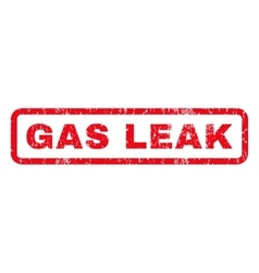 Gas leak rubber stamp vector
