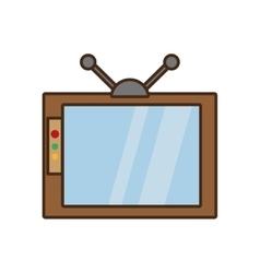 cartoon retro television watching design vector image