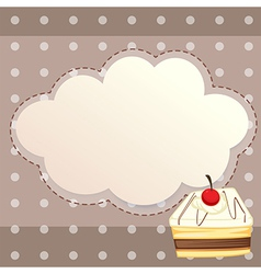 A stationery with a dessert vector