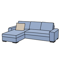 light blue sofa vector image