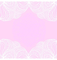 White borders on pink background vector
