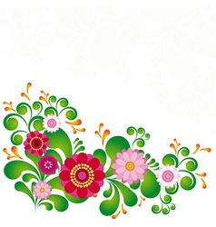 Colorful flower floral background to see similar vector