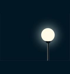 silhouette lamppost glowing style vintage on dark vector image