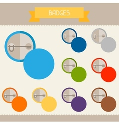 Badges colored templates for your design in flat vector