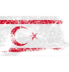 Flag of turkish and northern cyprus with old vector
