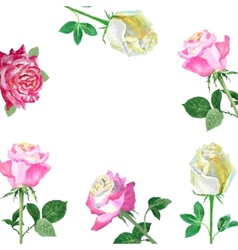 Background with red roses-02 vector image