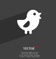Chicken bird icon symbol flat modern web design vector