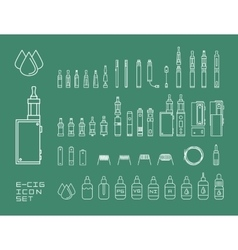 Icon set of vaping e-cigarette vector