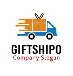Gift shipo design vector