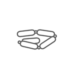 Chain of sausages line icon vector