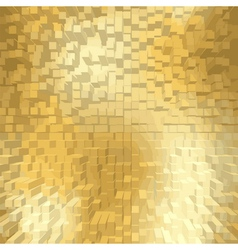Golden background square cube vector