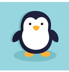 Penguinin Blue Background vector image