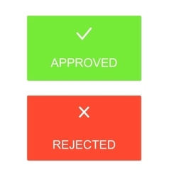 Approved rejected interface dialog box icons icon vector