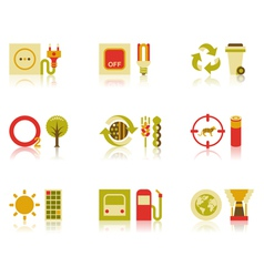 Saving natural resources icon set vector