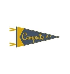 Adventure pennant Campsite Pennant Explorer flag vector image