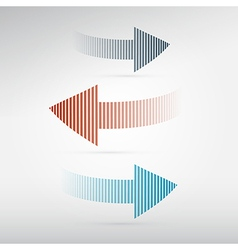 Arrows set on light background vector