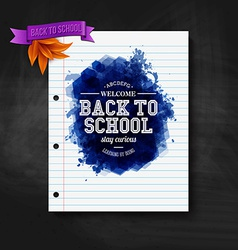 Back to school card Chalkboard typography design vector image