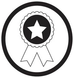 Badge star monochrome vector image vector image