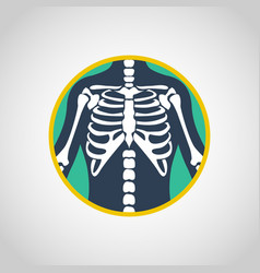 Chest x-ray logo icon design vector