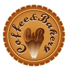 Coffee bakery vector