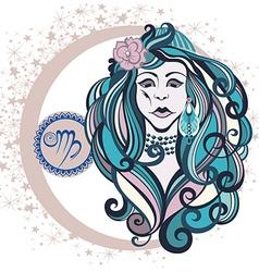 Decorative Zodiac sign Virgo vector image vector image