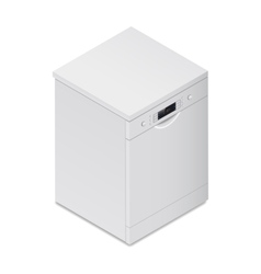 Dishwasher detailed isometric icon vector