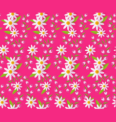 Easter spring seamless pattern with daisy vector