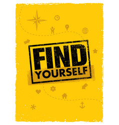 Find yourself adventure motivation banner vector