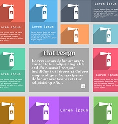 Fire extinguisher icon sign set of multicolored vector