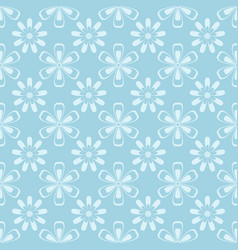 floral seamless pattern blue and white ornament vector image vector image
