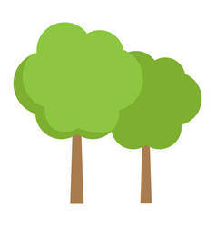 forest flat icon travel and nature vector image