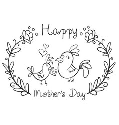 Happy mother day style hand draw vector