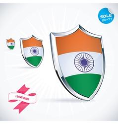I love india flag vector