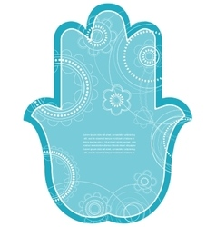 Indian hand drawn hamsa with ethnic vector