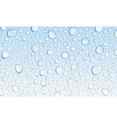 Light blue background of water drops vector image vector image