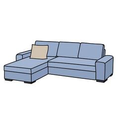 Light blue sofa vector