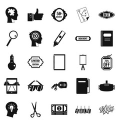 Mediation icons set simple style vector