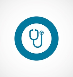 Medical bold blue border circle icon vector