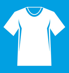 men tennis t-shirt icon white vector image vector image