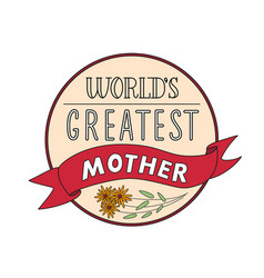 Mothers day festive round label template vector