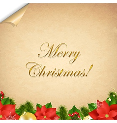 Old Paper With Corner And Christmas Border vector image