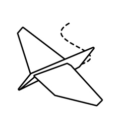 Paper plane project business outline vector