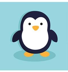 Penguinin Blue Background vector image vector image