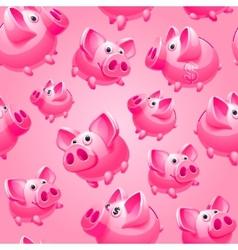 piggy bank seamless vector image vector image