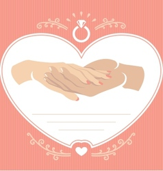 Proposal hand 2 vector image vector image