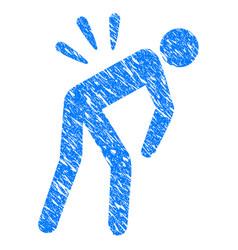 sciatica back pain grunge icon vector image